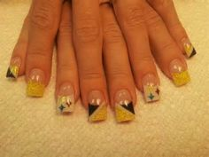 Steeler nails steelers pinterest sports nail art football steelers nail art pinterest httpsfacebook prinsesfo Choice Image