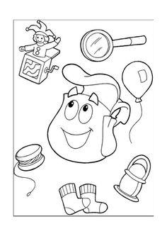 Desenhos para pintar Dora a exploradora 40