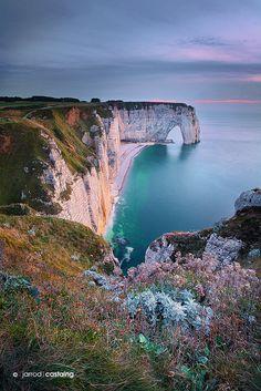 Cliffs of Etretat, Normandy, France; photo by Jarrod Castaing