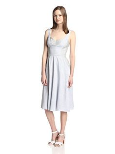 www.myhabit.com  Woven midi dress with sweetheart neckline, lightly padded cups, flared skirt with pockets and exposed back zipper