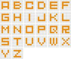 方眼編み アルファベット 編み図 - Google 検索