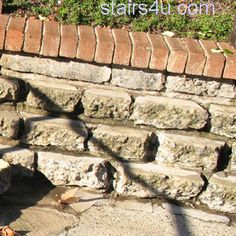 recycled cement retaining wall | Brick Cap On Recycled Concrete Retaining Wall