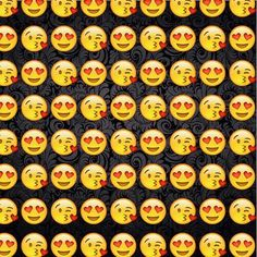 background, black, emoji, face, happy, heart, love, wallpaper, First Set on Favim.com