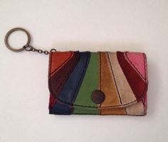 Lucky Brand Leather Strip Key Card Case SOLD