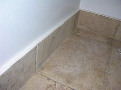 Baseboard Design Ideas | Matching Tile Baseboard / Easy to clean!