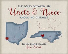 Gift for Uncle from Niece or Nephew, Long Distance Family Maps, Christmas Gifts . - Stylist and Craft ideas - Pin this boardm - Help the street animals. Uncle Christmas Presents, Christmas Gifts For Nephews, Family Christmas Gifts, Family Gifts, Christmas 2016, Homemade Christmas, Christmas Ideas, Homemade Birthday Gifts, Homemade Anniversary Gifts