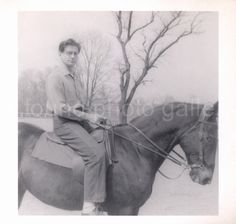 Man on Horseback Vintage Black and White by foundphotogallery