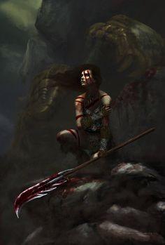 Barbarian girl by sdewey7 on DeviantArt