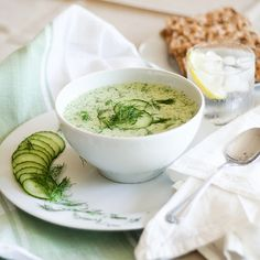 Cold Cucumber Soup | by Sonia! The Healthy Foodie