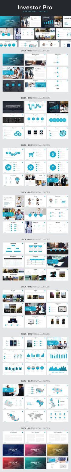 #presentation #template from Rocketo Graphics | DOWNLOAD: https://creativemarket.com/RocketoGraphics/727834-Investor-Pro-Powerpoint-Template?u=zsoltczigler
