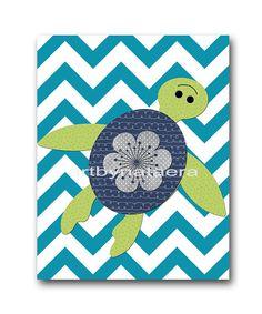 Sea Nursery Art Turtle Nursery Decor Instant by nataeradownload