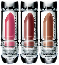 Shu Uemura Lipsticks.  That's some lipstick packaging.