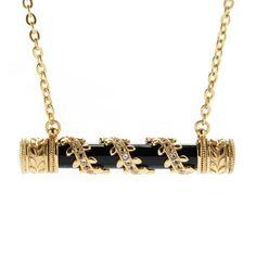 "Antalia™ Turkish Jewelry 18K Gold Embraced™ 30 x 6mm Gemstone ""Muskah"" Necklace evine.com bar necklace turquoise topaz amethyst"