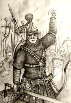"""Shahdokht Roshanara of Bahramiyan Eranshahr - """"An armored concept drawing of the original Persian Woman Warrior from the Original Historically Wrong sketch Series, which is based on the middle ages to pre-renaissance era. One thing to note that, although the series is based on the medieval history, the Persian in this particular series is represented in an anachronistic Sassanid Empire that ruled before the Arab Invasion of Persia."""" #history #art #illustration"""