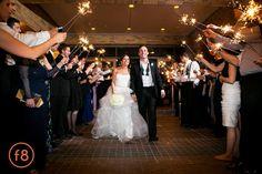 Katherine + Michael January Wedding | Sparkler Sendoff | Carter Rose Photography @f8studiowedding