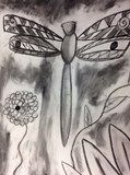 #Charcoal #drawing by Emily, grade 10, Greenwood High School #art4literacy