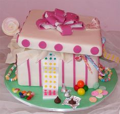 girls candy cake | This cake was a birthday cake for a 1 year old girl, based on an Elisa ...