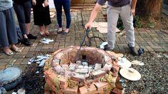 Loading the raku kiln at UPH