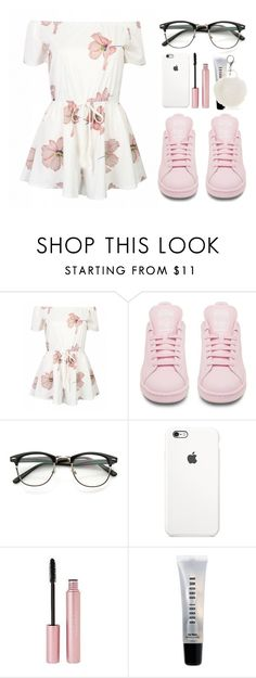 """""""Untitled #2260"""" by danielasilva12 ❤ liked on Polyvore featuring adidas, Mally, Bobbi Brown Cosmetics and New Directions"""