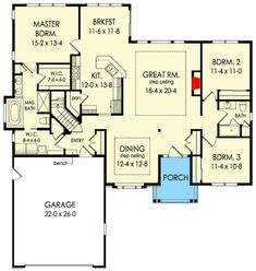 Exclusive 3-Bed House Plan with Split Bedroom Layout - 790002GLV | Architectural Designs - House Plans