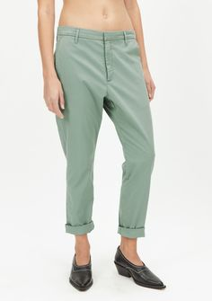 News Trouser - Teal Green - Relaxed Fit - Woman - Trouser Guide - Hope STHLM
