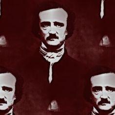 Edgar Allan Poe fabric by peacoquettedesigns on Spoonflower - custom fabric