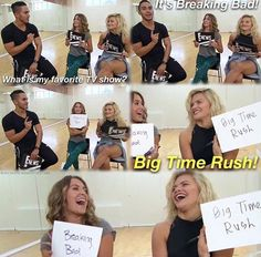 Alexa PenaVega and Witney Carson guessing answers to Carlos PenaVega's questions about himself