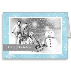 Blue Snowflakes Pattern Custom Photo Frame Card  Click on photo to purchase. Check out all current coupon offers and save! http://www.zazzle.com/coupons?rf=238785193994622463&tc=pin #cards #holidays #christmas  #christmascards #photos #photocards #believe #greetings #holidaycards  #xmas #xmascards #greetingcards #personalized #customized