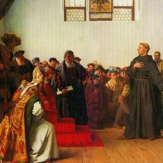 Timeline of Reformation History (1517-1685)    1521 (Jan-May)  Diet of Worms  Luther appears at the Diet before Charles V, emperor of the Holy Roman Empire, to to answer charges of heresy. On refusing to recant, he is declared a heretic and formally excommunicated from the Catholic Church by Pope Leo X.  Frederick III, Elector of Saxony ensures that Luther is taken to the Wartburg Castle for his own safety.