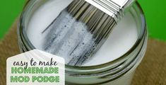 how to make homemade mod podge - you have to try this easy homemade mod podge recipe with only 2 easy ingredients. So simple!