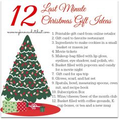 Here is 12 last minute Christmas gift ideas for anyone on your Christmas shopping list this year!