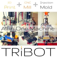 TRiBOT 3D Print, CNC Mill, Auto-Mold machine in one machine by Luminar Products