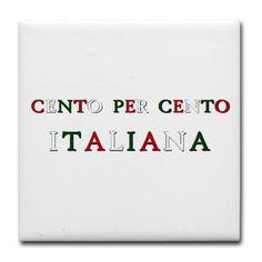 100% Italian (Girls/Ragazze) Tile Coaster