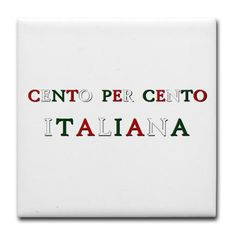 100% Italian (Girls/Ragazze) Tile Coaster