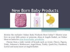 Buy ‪#‎New‬ Born Baby ‪#‎Products‬ As and When Needed Through Online, At Angels Basket Visit ‪#‎Slide‬ For more Details.
