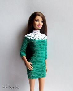 Платье с рукавом реглан 3/4 с ажурным воротником<br>Вариации декора, как и длина рукавов, юбки, могут быть любыми.