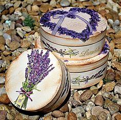 bibidekoracie / Levanduľové krabičky