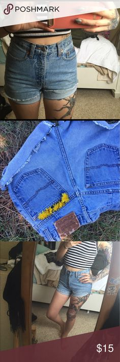 Vintage high wasted shorts Perfectly sculpting, slim, and high wasted vintage shorts. limited jeans Shorts Jean Shorts