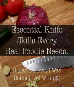 Can I just tell you how grateful I am to still have all ten of my fingers intact? I've been cooking since I was a little twig of a girl sometime in late elementary, and yet I've been using a knife wrong for all of those years.  I recently learned some professional knife skills from a c