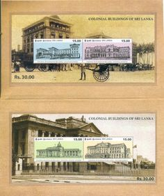 Colonial buildings of Sri lanka stamps