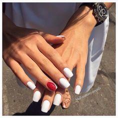 Bright summer nails, Fruit nails, Plain nails, Square nails, Stylish nails…