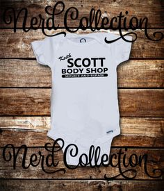 Baby Onesie OTH One Tree Hill Inspired Keith Scott Body Shop Lucas Scott Baby Shower Gift Nursery Funny Custom Baby Clothing Gerber by NerdCollection on Etsy https://www.etsy.com/listing/249488937/baby-onesie-oth-one-tree-hill-inspired