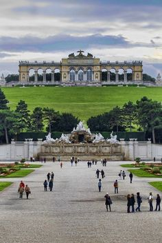 At the Schonbrunn Palace in Vienna, Austria.