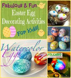 Fabulous Fun Easter Egg Decorating Ideas for Kids! - Oh So Savvy Mom