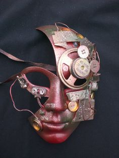 Venetian Robot Mask by d5dietrich on Etsy, $150.00