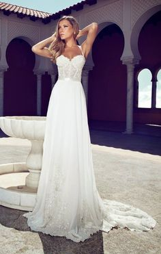 Beautiful simple wedding dress