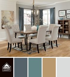 A more natural palette for the dining room - yay!