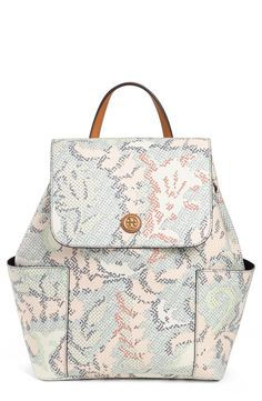 bf1f2cfd8b7 Tory Burch Kerrington Backpack White Backpack