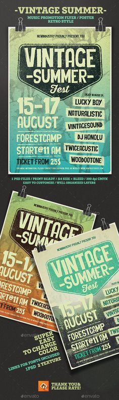 Vintage Typography Flyer  Vintage Typography Typography And