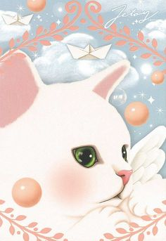 Jetoy Choo choo cat postcard - Angel 5 by PCmarja2006, via Flickr